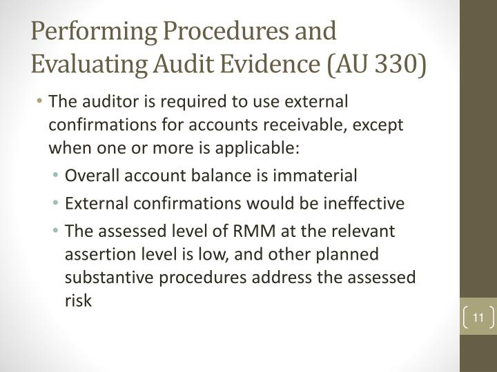 Performing Procedures and Evaluating Audit Evidence (AU 330)