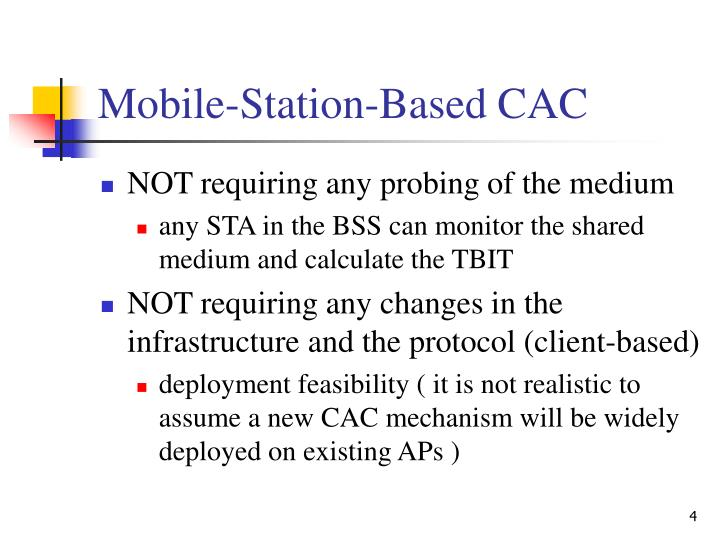 Mobile-Station-Based CAC