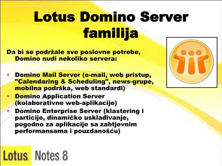 Lotus Domino Server familija