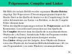 pr prozessor compiler und linker