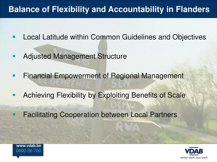 Balance of Flexibility and Accountability in Flanders