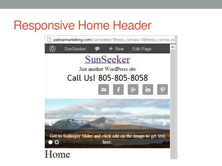 Responsive Home Header