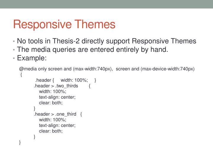 Responsive Themes