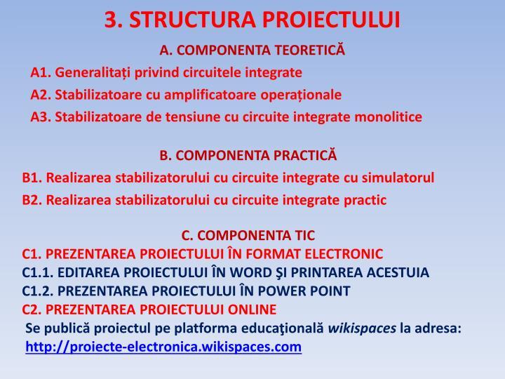 3. STRUCTURA PROIECTULUI