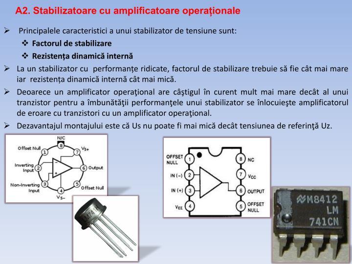 A2. Stabilizatoare cu amplificatoare operaționale