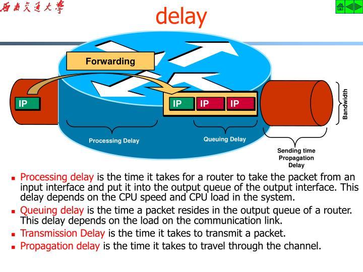 Processing delay