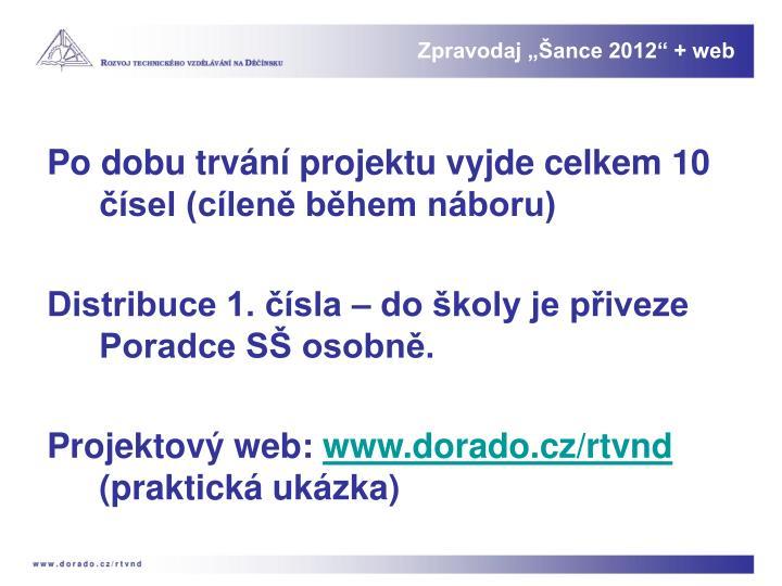 """Zpravodaj """"Šance 2012"""" + web"""