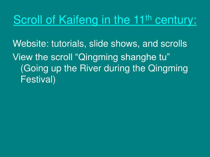 Scroll of Kaifeng in the 11