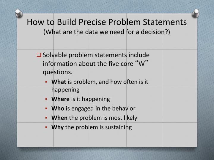 How to Build Precise