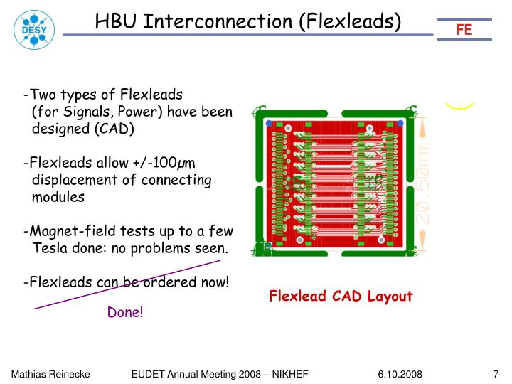 HBU Interconnection (Flexleads)