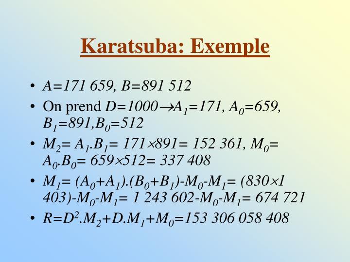 Karatsuba: Exemple