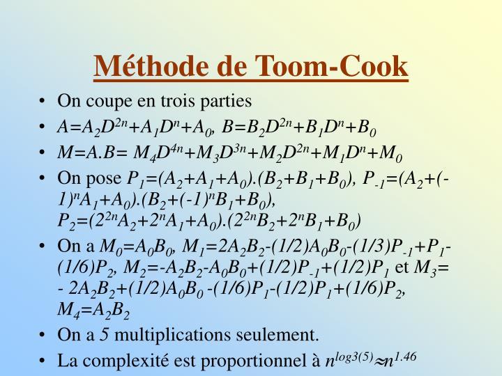 Méthode de Toom-Cook