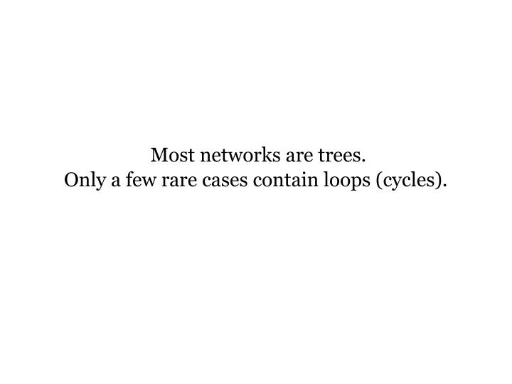 Most networks are trees.