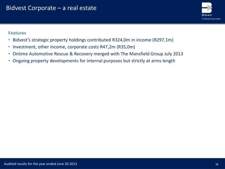 Bidvest Corporate – a real estate