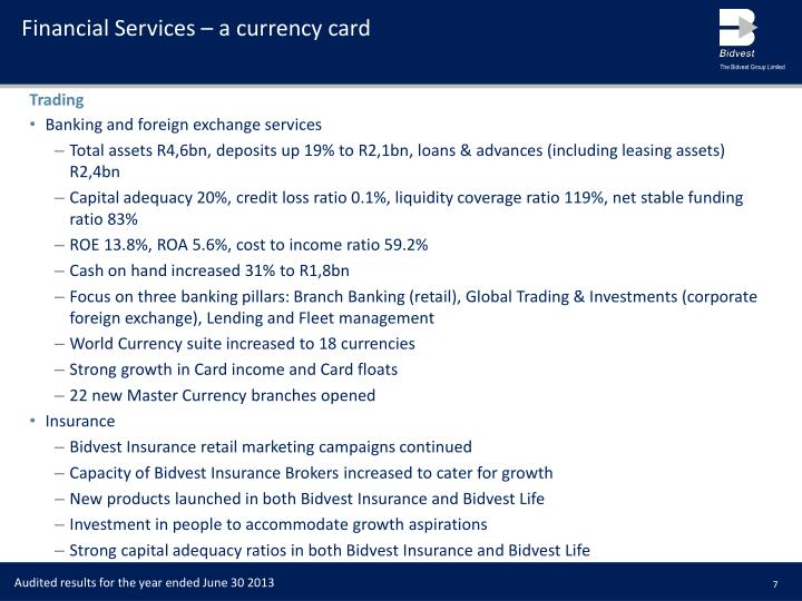 Financial Services – a currency card
