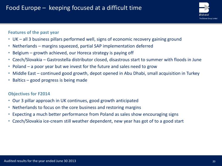 Food Europe –  keeping focused at a difficult time