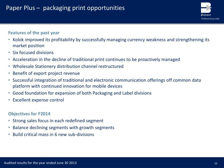 Paper Plus –  packaging print opportunities
