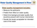 water quality management in river