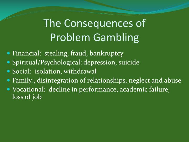 The Consequences of