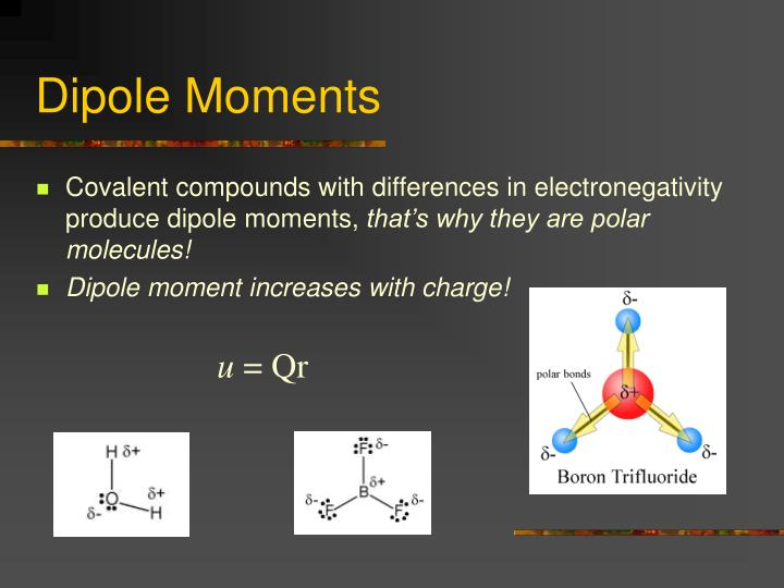 Dipole Moments