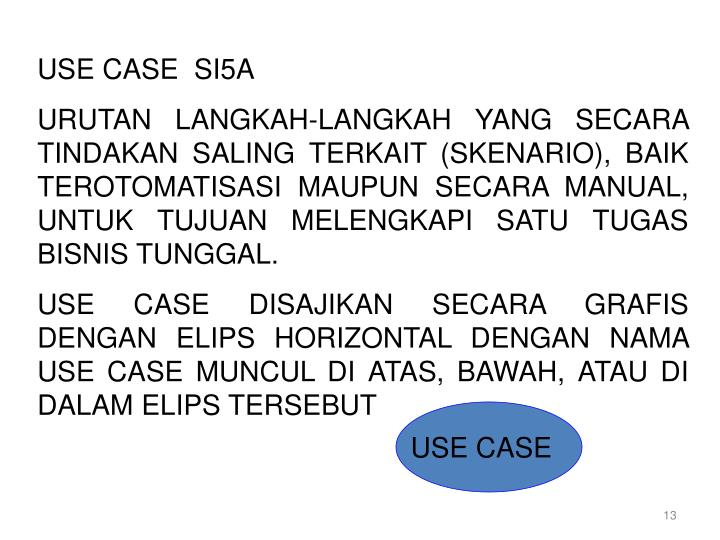 USE CASE  SI5A