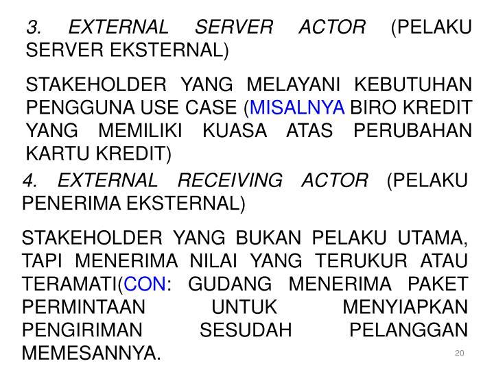 3. EXTERNAL SERVER ACTOR