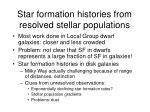 star formation histories from resolved stellar populations