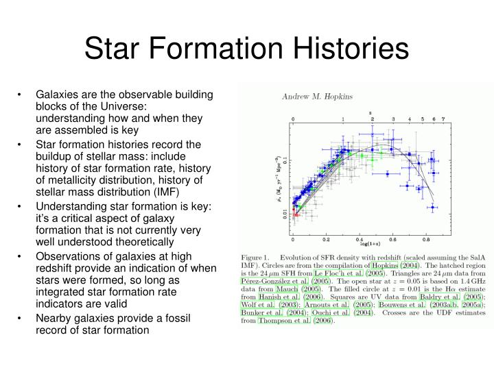 Star formation histories