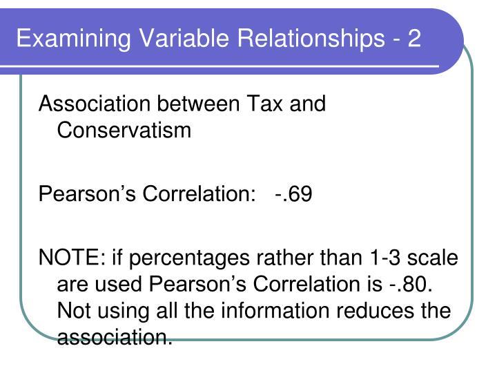 Examining Variable Relationships - 2