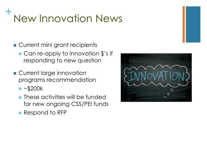 New Innovation News