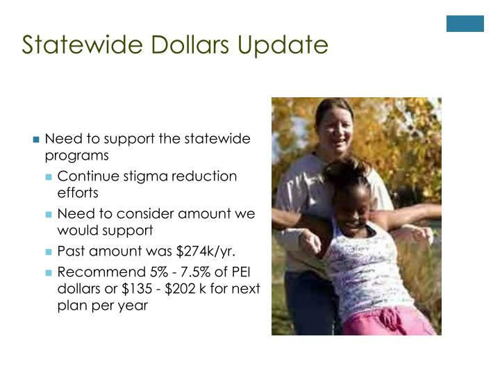 Statewide Dollars Update