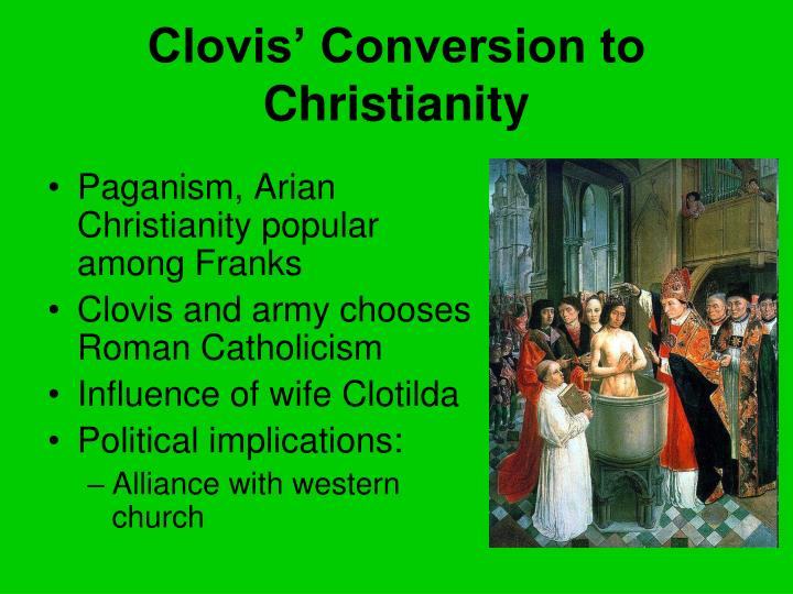 Clovis' Conversion to Christianity