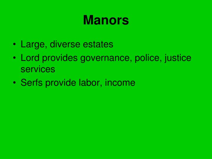 Manors