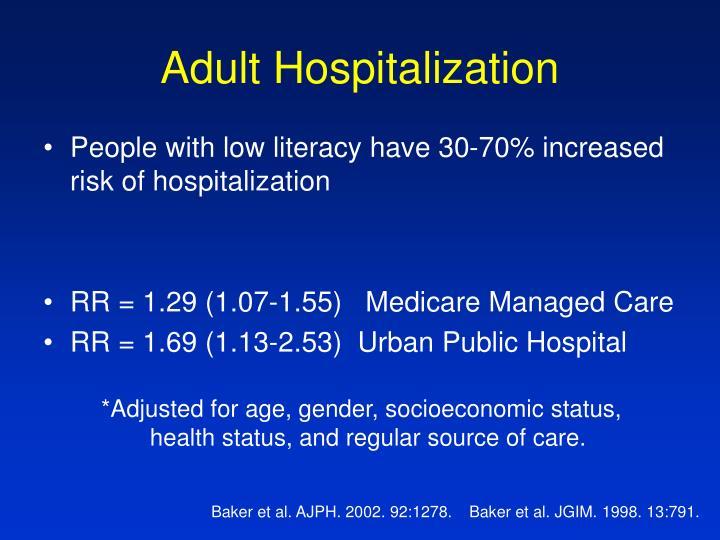 Adult Hospitalization