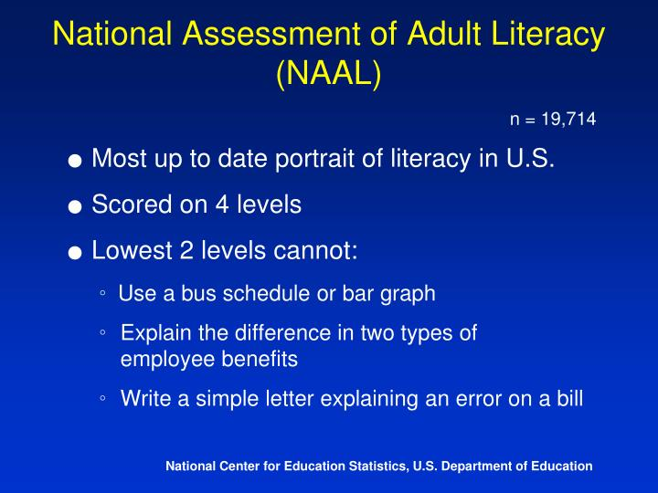 National Assessment of Adult Literacy (NAAL)