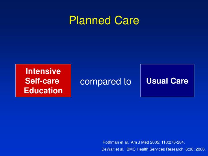 Planned Care