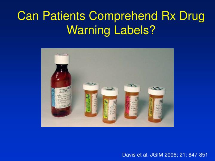 Can Patients Comprehend Rx Drug