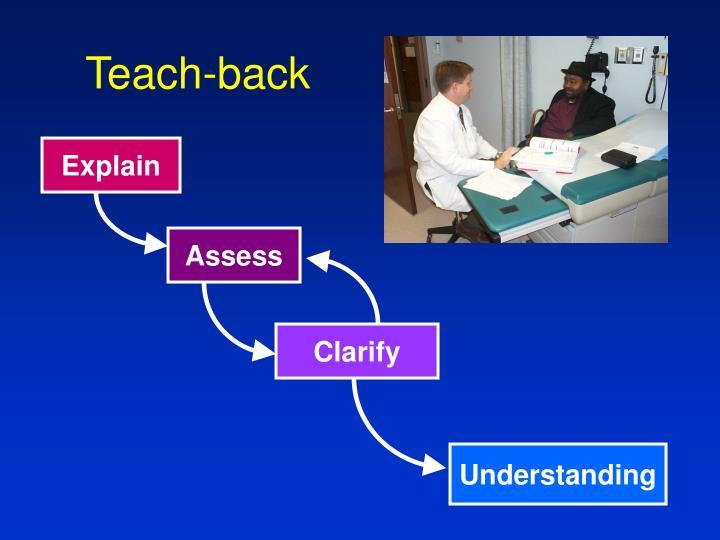 Teach-back