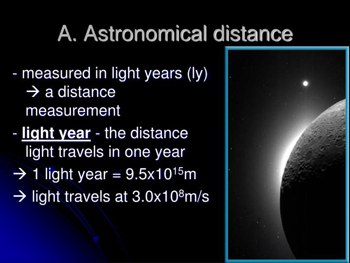 A. Astronomical distance