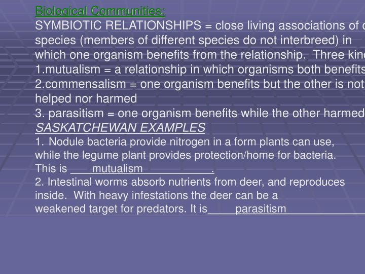 Biological Communities: