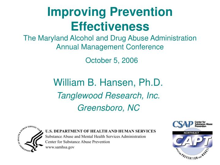 Improving Prevention Effectiveness