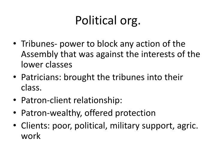 Political org.