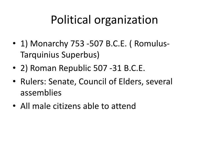 Political organization