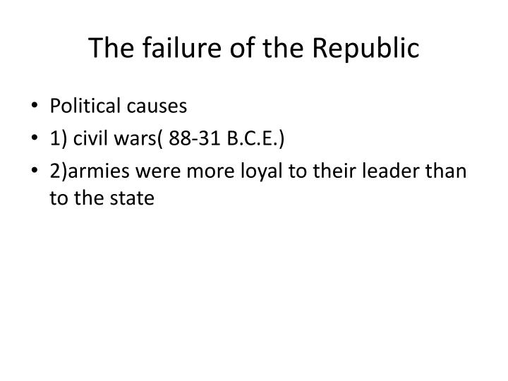 The failure of the Republic