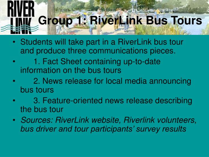 Group 1: RiverLink Bus Tours
