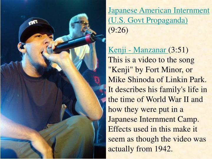 Japanese American Internment (U.S. Govt Propaganda)