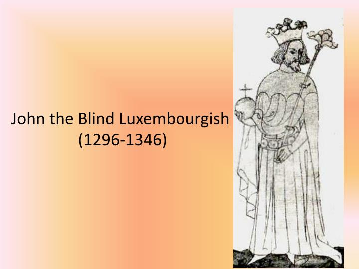 John the Blind Luxembourgish