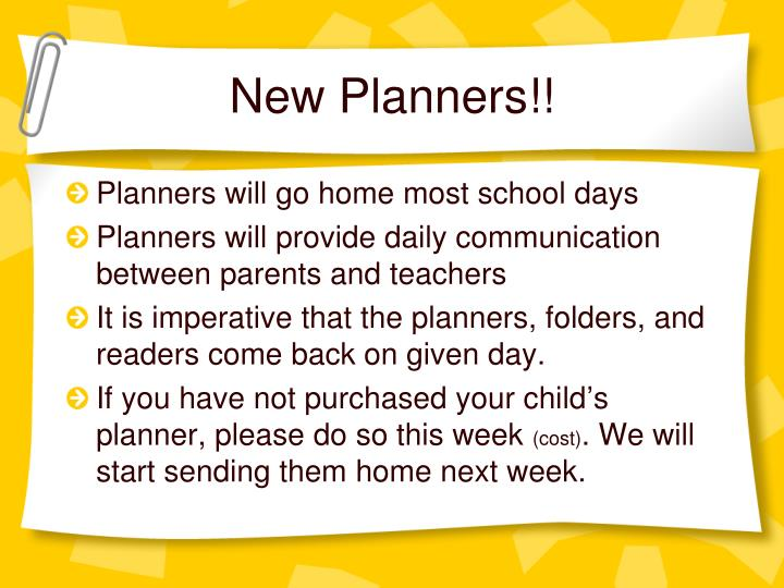 New Planners!!