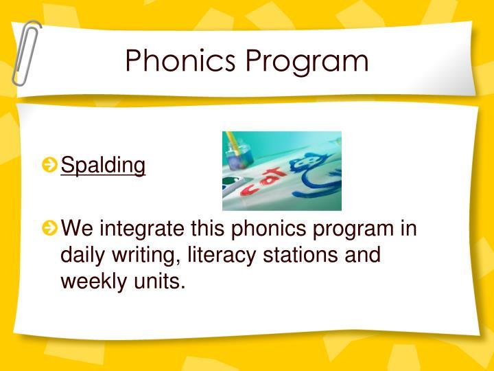 Phonics Program