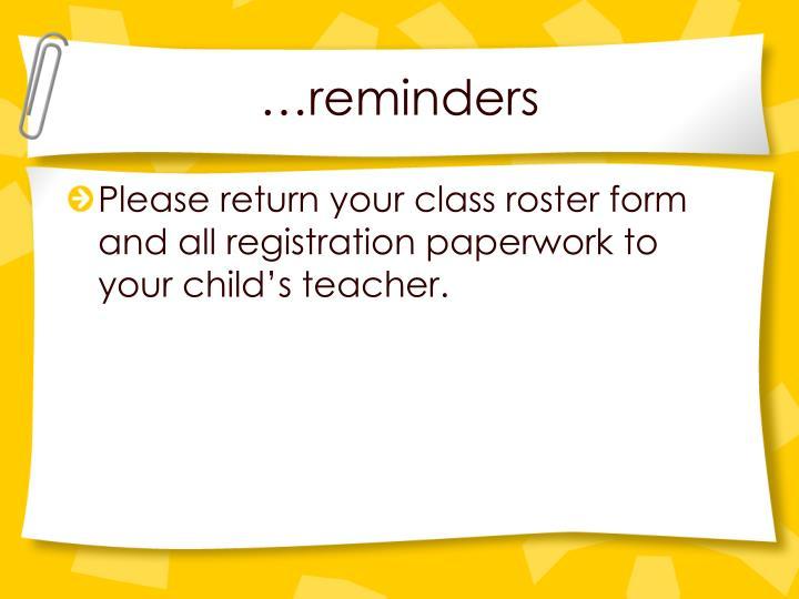 …reminders